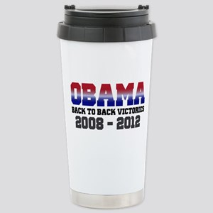 Obama Back to Back Victory Stainless Steel Travel