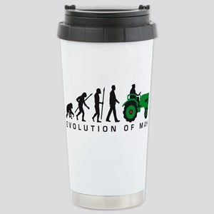 evolution of man farmer with a tractor Tasse Mugs