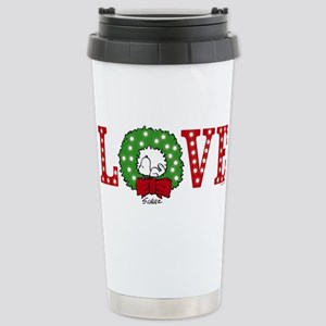 Snoopy Holiday Lo 16 oz Stainless Steel Travel Mug