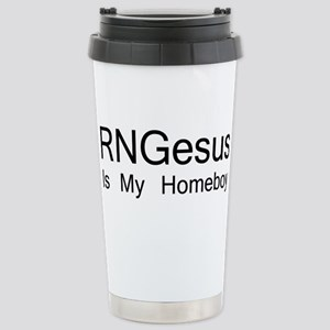 RNGesus Is My Homeboy Travel Mug