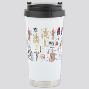 Human Anatomy Charts Travel Mug