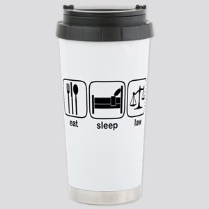 Eat Sleep Law Stainless Steel Travel Mug