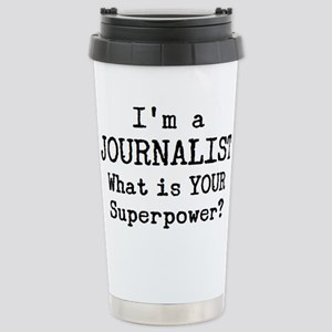 journalist 16 oz Stainless Steel Travel Mug