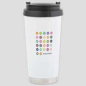 Marathon Numbers Pastel Stainless Steel Travel Mug