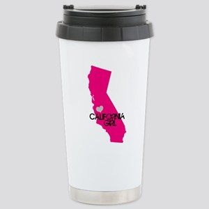 CALIFORNIA GIRL w HEART [4] Travel Mug