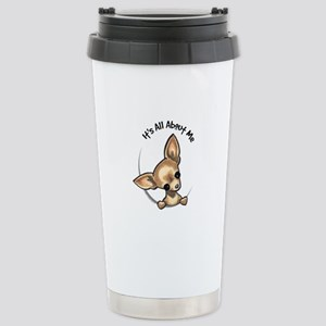 Tan Chihuahua IAAM Stainless Steel Travel Mug
