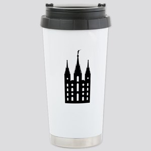 Mormon Style Temple Stainless Steel Travel Mug