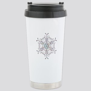 Iridescent Snowflake Travel Mug