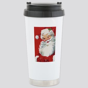 Vintage Christmas Jolly Stainless Steel Travel Mug