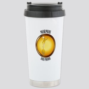 Mormon And Proud Button Stainless Steel Travel Mug