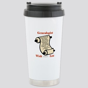 Genealogy Wish List Stainless Steel Travel Mug
