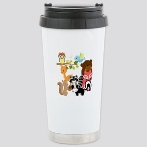 Forest Friends Stainless Steel Travel Mug