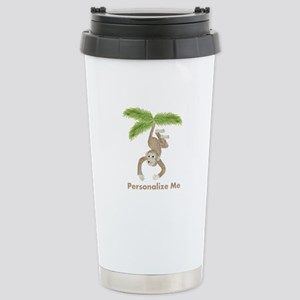 Personalized Monkey Stainless Steel Travel Mug