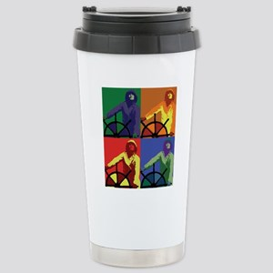 Pop Art Man at the Whee Stainless Steel Travel Mug