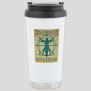 Vitruvian Man at the Wh Stainless Steel Travel Mug