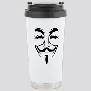 Anonymous Mask Stainless Steel Travel Mug