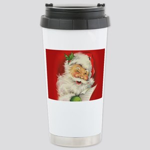 Vintage Christmas Santa Stainless Steel Travel Mug