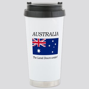 Australian Flag Stainless Steel Travel Mug