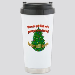 Griswold Christmas Tree Stainless Steel Travel Mug