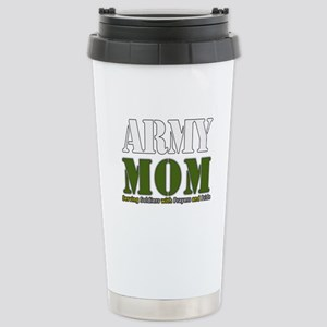 Army Mom Prayers Stainless Steel Travel Mug