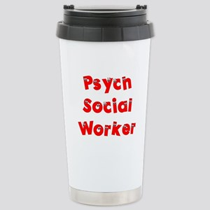 Psych Social Worker Stainless Steel Travel Mug