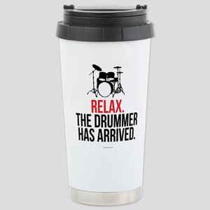 Relax Drummer Has Arriv Stainless Steel Travel Mug