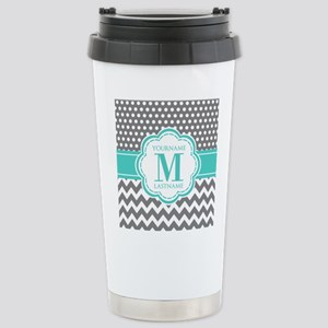 Personalized Polka Dots Stainless Steel Travel Mug