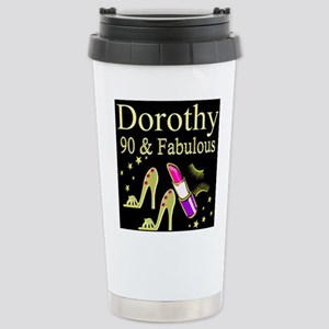 PERSONALIZED 90TH Stainless Steel Travel Mug