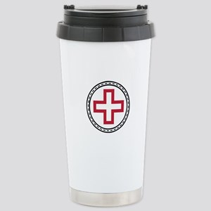Circled Red Cross Travel Mug