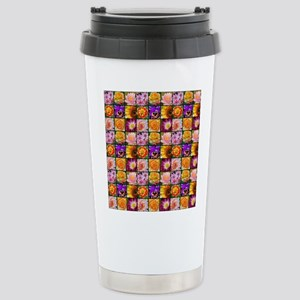 Colorful flower collage Travel Mug