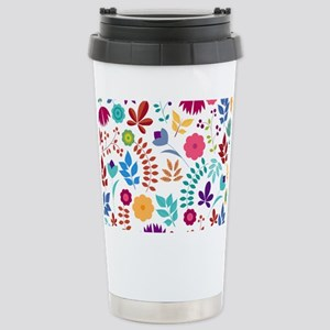 Cute Whimsical Floral B Stainless Steel Travel Mug