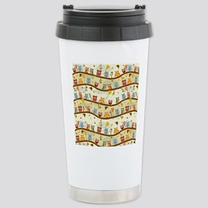 Autumn Owls Stainless Steel Travel Mug