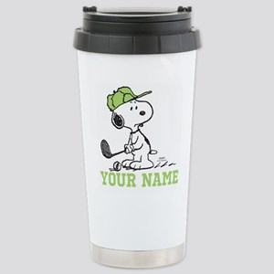 Snoopy Golf - Personali Stainless Steel Travel Mug
