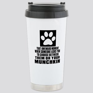 Awkward Munchkin Cat De Stainless Steel Travel Mug
