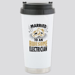 Married To An Awesome Electrician Travel Mug
