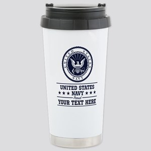 U.S. Navy Proud P 16 oz Stainless Steel Travel Mug