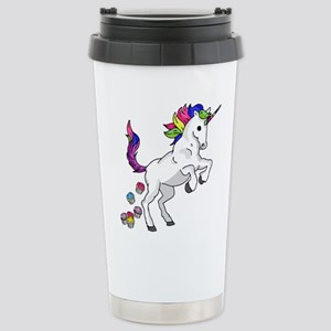 Unicorn Cupcakes 16 oz Stainless Steel Travel Mug