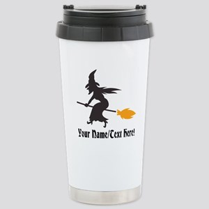 Custom Personalized Halloween Witch Broom Mugs