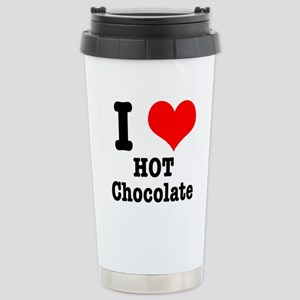 I Heart (Love) Hot Chocolate Stainless Steel Trave