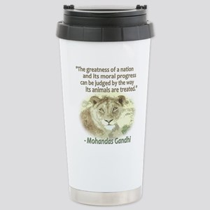 Gandhi Animal Quote ~ Stainless Steel Travel Mug