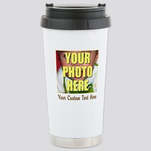Custom Photo and Text Stainless Steel Travel Mug