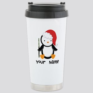 Personalized Flute Penguin Mugs