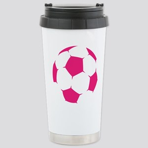 Pink Soccer Ball Travel Mug