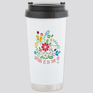 Snoopy Spring Stainless Steel Travel Mug