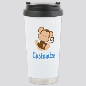 Custom Monkey Stainless Steel Travel Mug