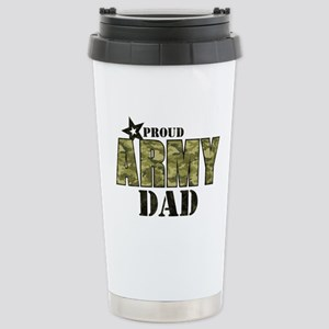 Camo Proud Army Dad Stainless Steel Travel Mug
