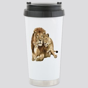 Lion And Cubs Travel Mug