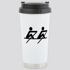 Rowing paddle team Stainless Steel Travel Mug