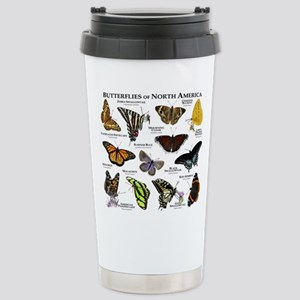Butterflies of North America Stainless Steel Trave