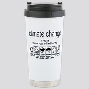 CLIMATE CHANGE t-shirt Stainless Steel Travel Mug